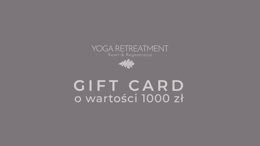 YOGA RETREATMENT GIFT CARD 1000