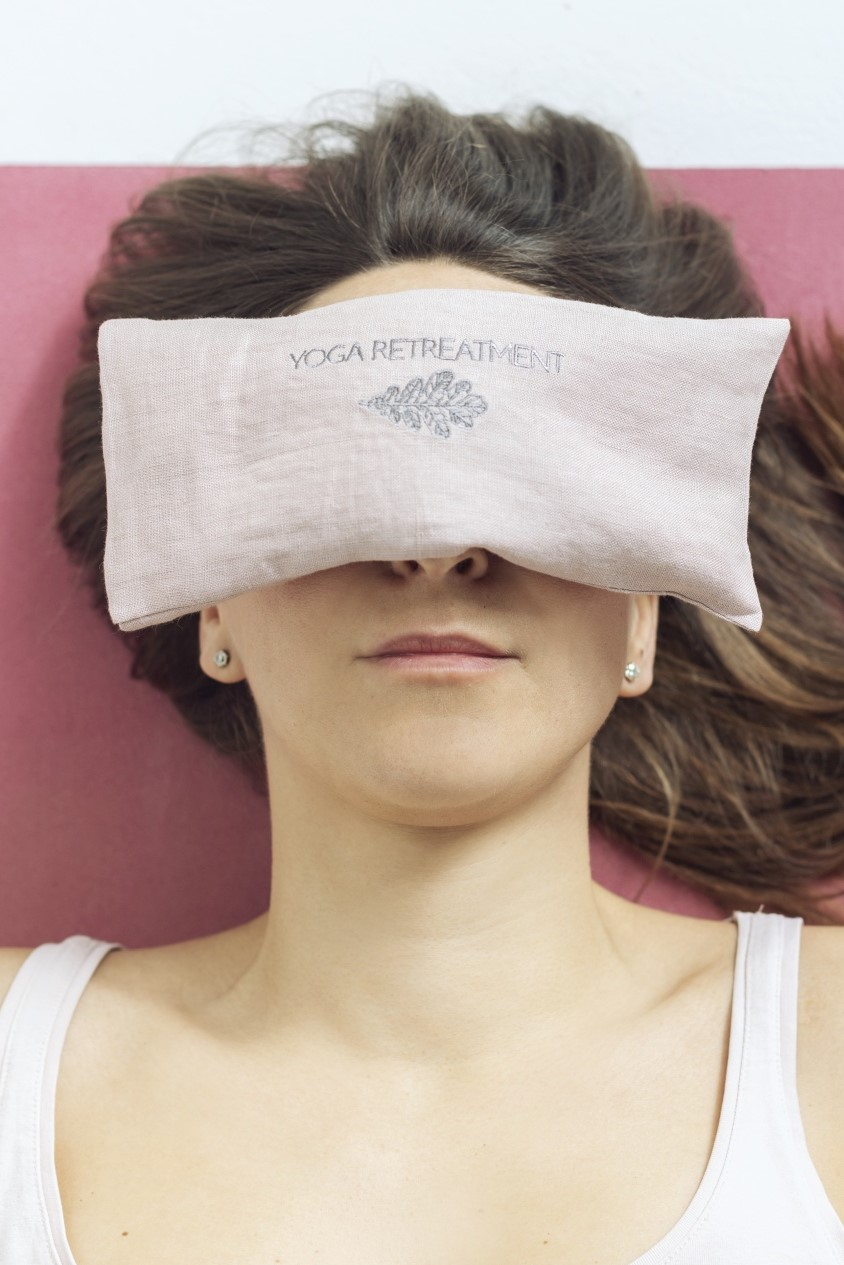 Lavender Eye Pillow Dusty Rose
